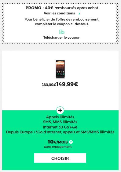 Le Alcatel A3 XL est actuellement en promo chez RED by SFR.