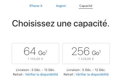 La livraison de l'iPhone X plus rapide que jamais