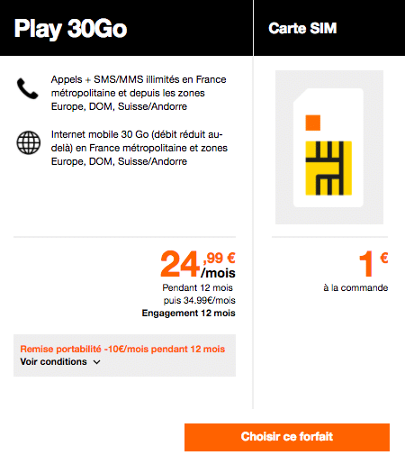 Orange forfait data 4G