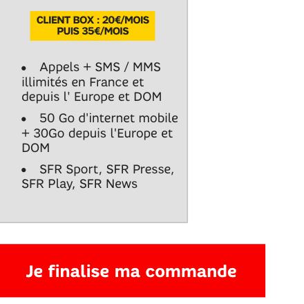 SFR forfait vente flash S7