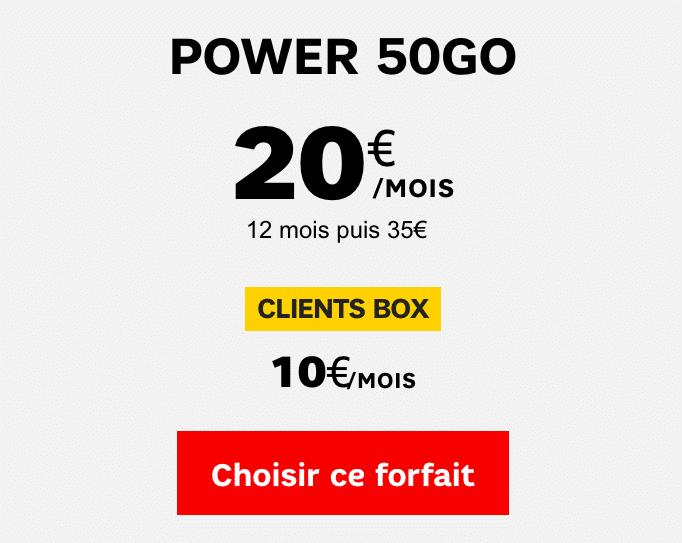 forfait Power SFR