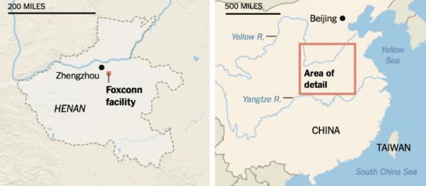 Apple exploite des travailleurs dans les usines qu'il sous traite en Chine.