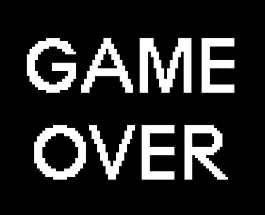 écran de game over