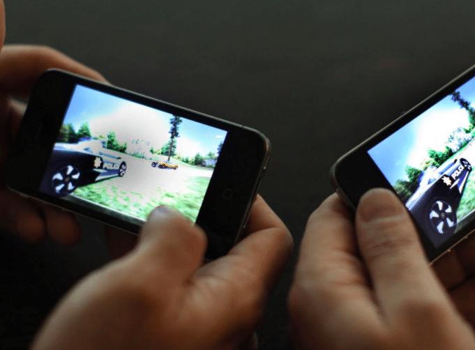 Une partie de jeu sur smartphone