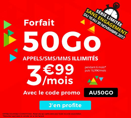 L'offre 50 Go de Auchan Télécom