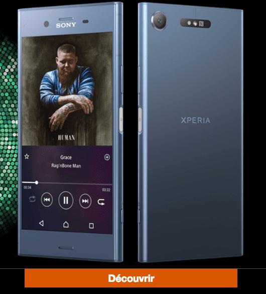 orange Sony Xperia