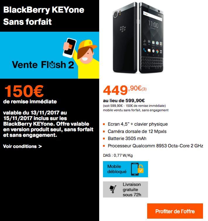 Le Blackberry sans forfait