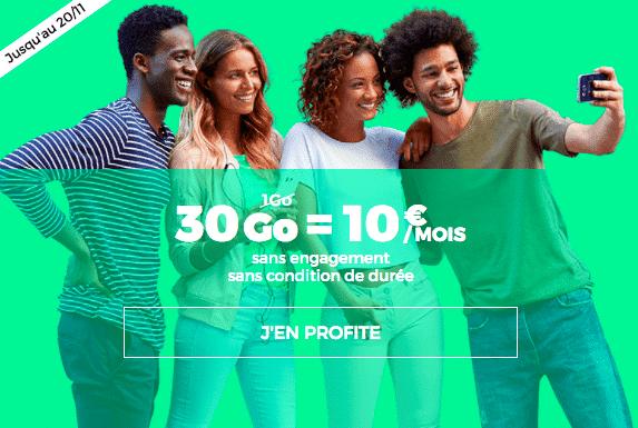 Le forfait RED by SFR 10go est à 10€ pour une durée limitée.