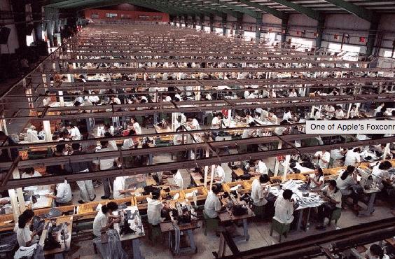 Apple ne respecte pas les normes fixées pour le travail des employés Foxconn.