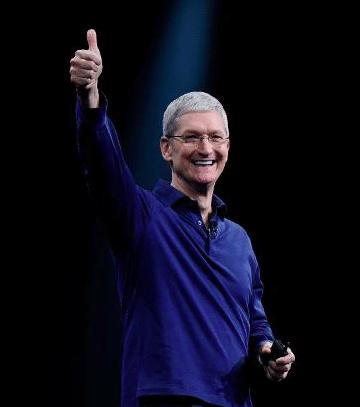 Tim Cook se félicite des résultats financiers enregistrés par Apple