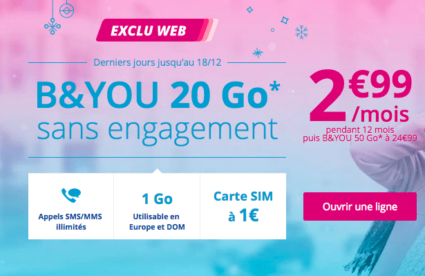 B&You bouygues 2,99