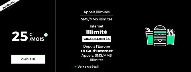 Le Black Forfait de RED by SFR offre la data illimitée.