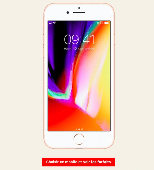 Forfait iPhone 8 SFR