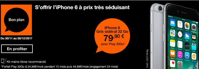 Orange promo iPhone 6