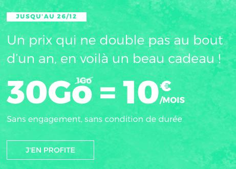 30 Go pour 10€, une offre à ne pas manquer chez RED by SFR