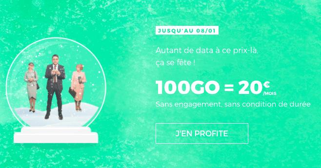 Le forfait 100 Go de RED by SFR