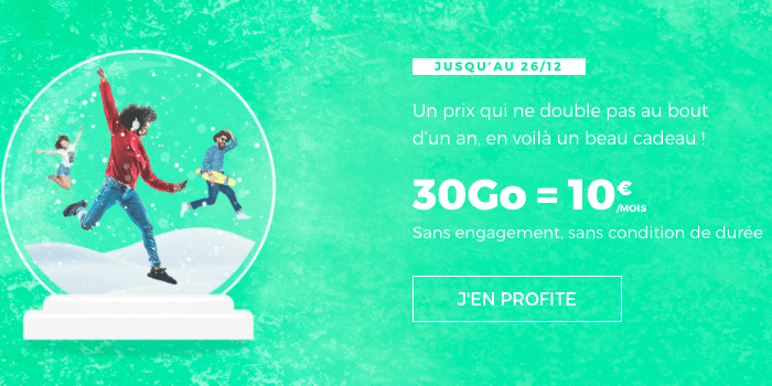L'offre 30 Go à 10€ de RED by SFR