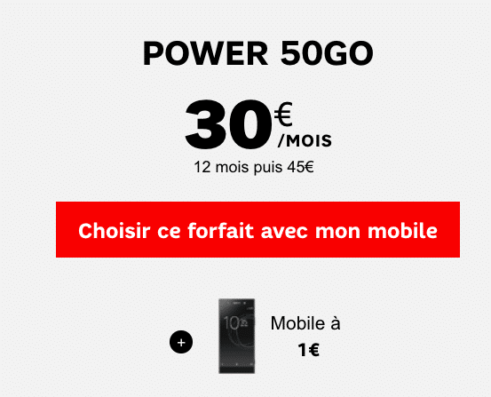 SFR Power 50 Go