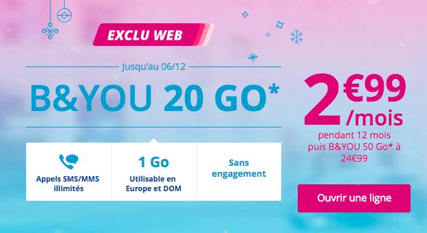 L'offre 20 Go de B&You