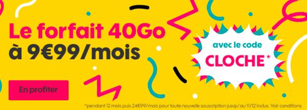 Forfait 40 Go de Sosh en promo