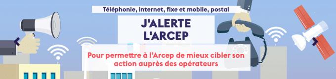 L'Arcep a mis en place un portail de signalements des défaillances de réseau mobile ou fixe.
