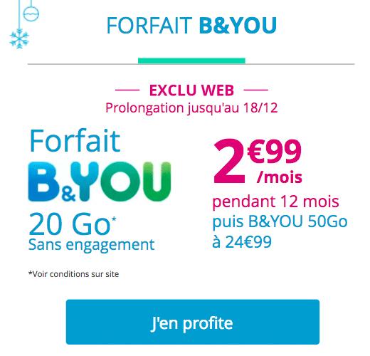 forfait promo B&You