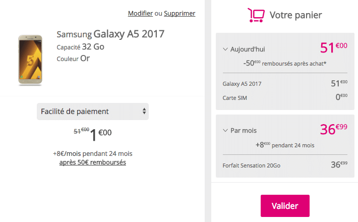 Galaxy A5 Bouygues