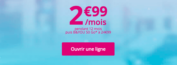 b&you offre speciale
