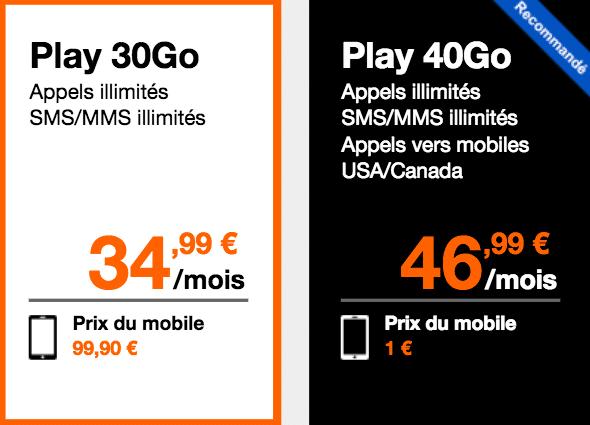 forfait Play 40 Orange