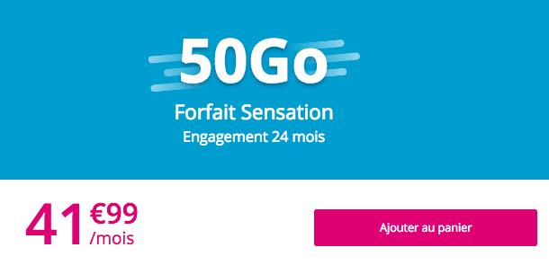 forfait Sensation 50 Go