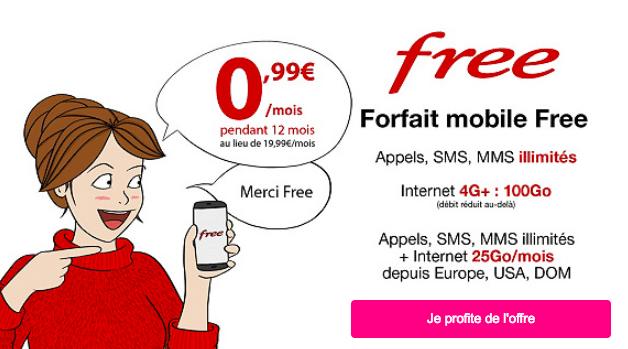L'offre à 0,99€ de Free Mobile