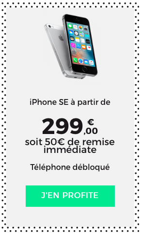 L'iPhone SE bénéficie d'une remise de 50€ en ce moment chez SFR.