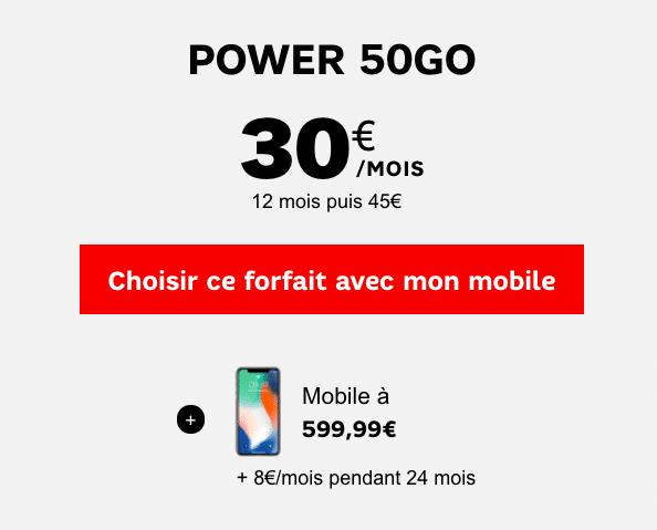 iPhone X forfait SFR