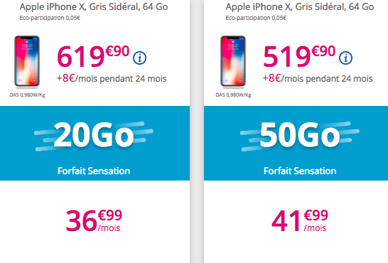 iPhone X forfaits bouygues telecom