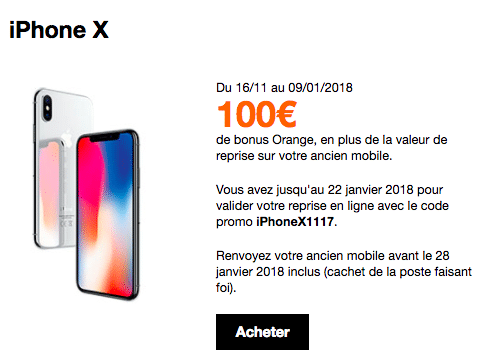 iPhone X Apple Orange