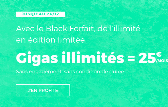 4G illimitée forfait RED by SFR