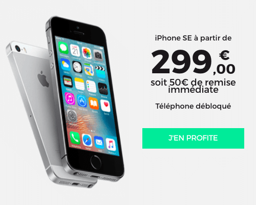 iPhone SE promo RED by SFR