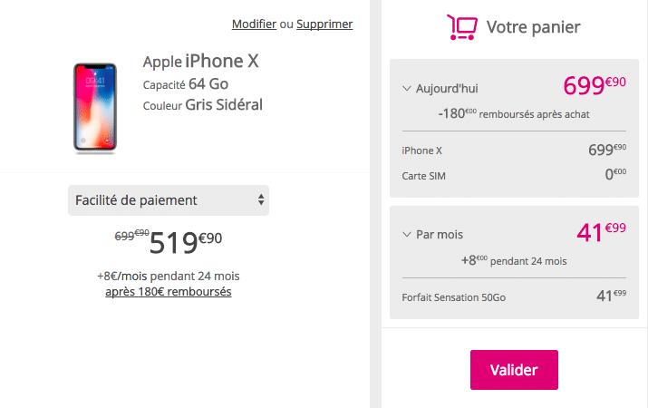 iPhone X Bouygues Télécom