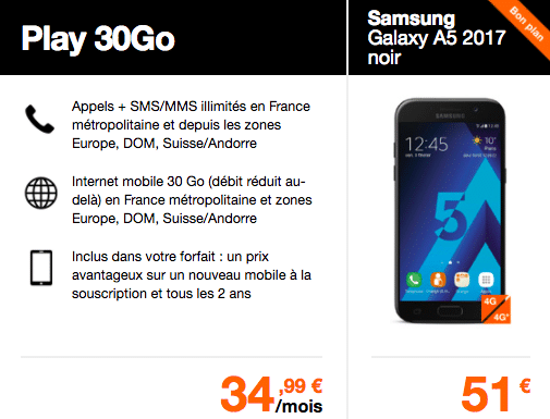 Orange Samsung Galaxy