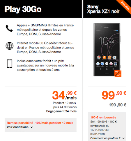 promo Sony Xperia Orange