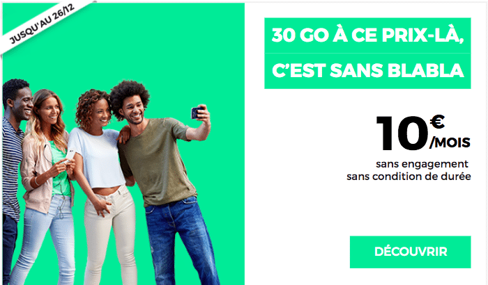 forfait 10€ RED by SFR