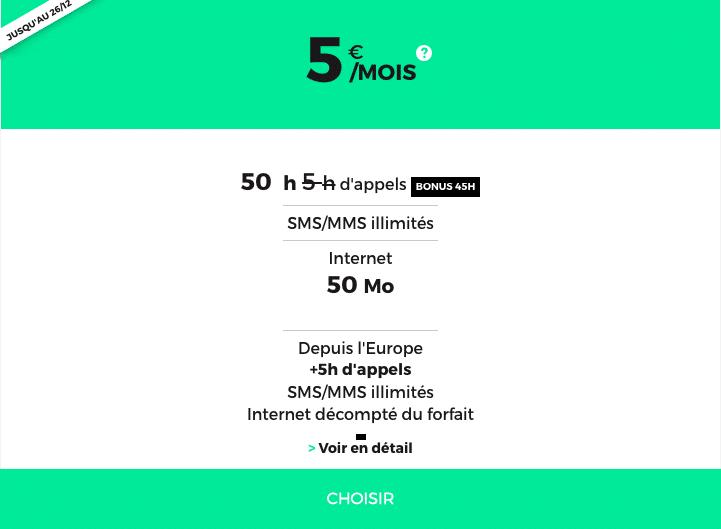 50h pour 5€ avec RED by SFR