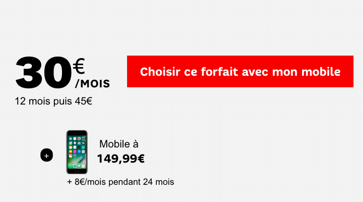 SFR forfait iPhone 7 Apple