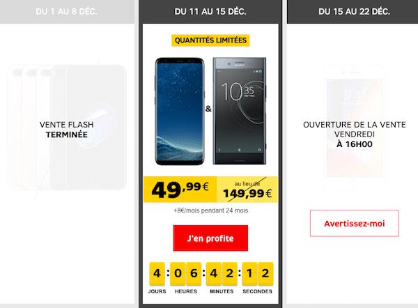 smartphones en promo sfr brade le xperia xz premium et le galaxy s8. Black Bedroom Furniture Sets. Home Design Ideas