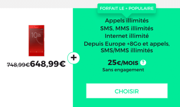 forfait red 4G illimitée