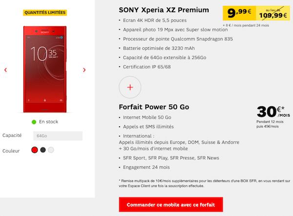 Xperia XZ Premium SFR