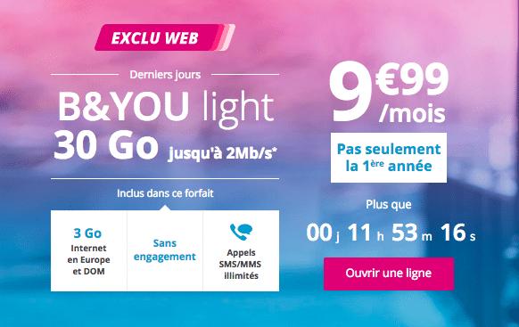 B&You light promotion
