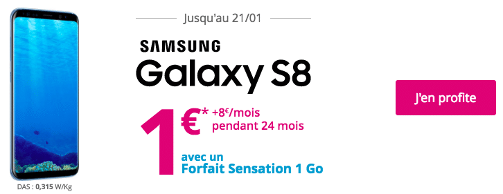 Bouygues telecom galaxy S8 1e