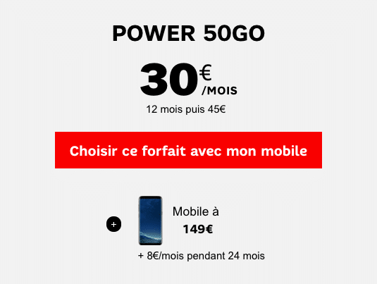 SFR Power 50 Go samsung