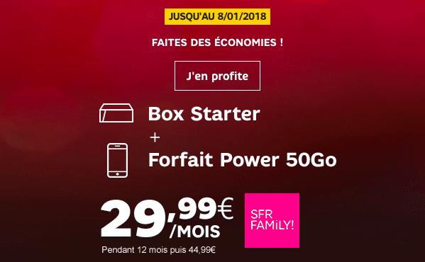 SFR box et forfait mobile